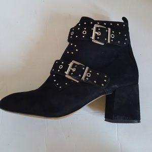 Rebecca Minkoff Women's Black Heeled Ankle Boots